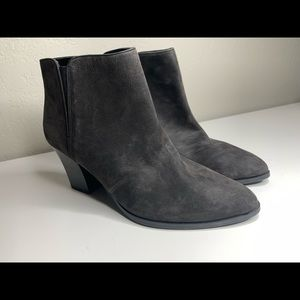 Franco Sarto Dark Gray Suede Leather Ankle Booties